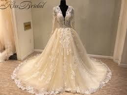 luxury wedding dresses new trend 2018 luxury wedding dresses a line light chagne