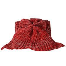 90 170cm 35 67 u0027 u0027 mermaid tail blanket yarn knitted handmade