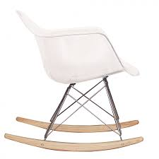 ray eames style rar rocking chair clear