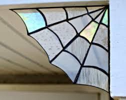 Home Decor Glass Stained Glass Spider Web Cornerhome Decor Garden