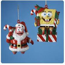 spongebob squarepants santa ornaments kurt