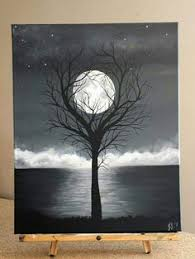 black and white painting ideas tree watercolor art il 430xn 86533479 jpg art inspirations