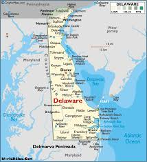 Delaware travel underwear images Map of delaware large color map gif