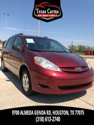 toyota credit bank used 2006 toyota sienna ce in houston