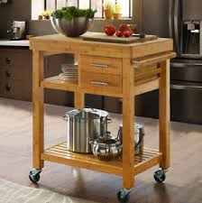 kitchen island or cart rolling bamboo kitchen island cart trolley cabinet w towel rack