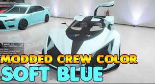 Soft Blue Color Gta 5 Modded Crew Color