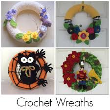 crochet wreath patterns for every season
