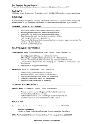Example Of Objectives For Resume Amazing Dermatology Receptionist Resume Sample Pictures Office