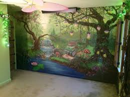 enchanted forest wall mural room set wall murals and walls enchanted forest bedroom mural during the day hannonartworks
