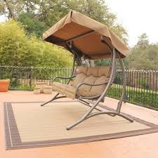 Patio Swings And Gliders Patio Swing Canopy Replacement Person Patio Swing With Canopy