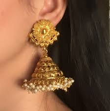 jhumka earrings new indiana pearl south big jhumka earrings intrendforever