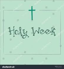 design framed words holy week cross stock vector 1009220680