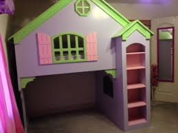 Doll House Bunk Bed Dollhouse Loft Bunk Bed With Stairs Home Improvement 2017