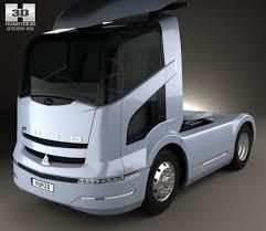 mitsubishi 2004 mitsubishi fuso tractor truck 2004 3d model hum3d