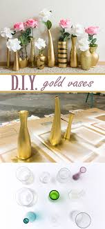 super cheap home decor learn how to create these beautiful gold and glitter vases for