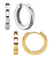 huggie earrings hinged huggie earrings sizes in singles or pairs 4237