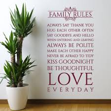 popular rule family buy cheap rule family lots from china rule family rules wall decal vinyl sticker interior home art murals bedroom home decor wall sticker x465