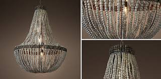 Chandelier Lamp Shades With Beads Clay Bead Empire Chandelier Grey Rh
