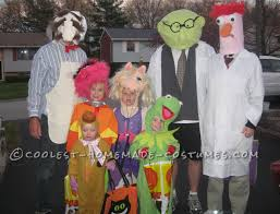coolest homemade muppets family group costume costumes