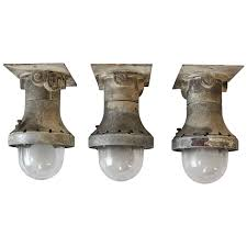 Explosion Proof Light Fixture by 1930s Explosion Proof Industrial Flush Mount Wall Sconces Three