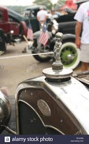 ornament of boy 1931 ford model a roadster car show