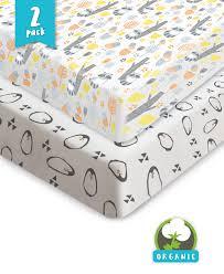Crib Mattress Sheets Crib Sheets 100 Organic Jersey Cotton 2pk Unisex