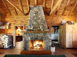Unfinished Wood Storage Cabinets by Impressive Rustic Log Cabin Ideas Using Black River Stacked Stone