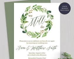 vow renewal invitations vow renewal invite etsy