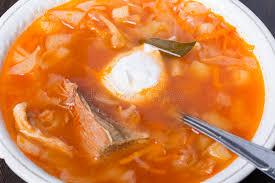 une russe en cuisine soupe à chou cuisine russe traditionnelle image stock image du