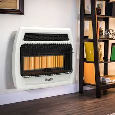 dyna glo 30k btu lp infrared vent free t stat wall heater ghp