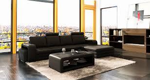 salon avec canapé noir fauteuil cuir noir design élégant salon avec canape noir orchids