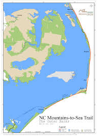Map Of Outer Banks Nc Future Plans Mountains To Sea Trail