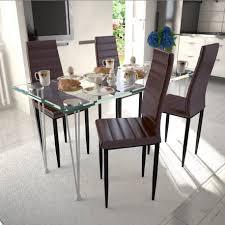 table avec 4 chaises table en verre avec 4 chaises design brun pour toutes nos chaises a