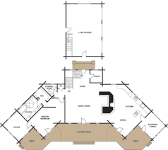 log home floor plans with garage log home plan 9801 by maple island log homes