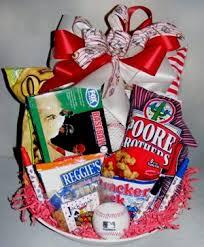 home run baseball gift basket