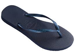 havaianas new slim navy blue strap flip flops thongs brazil rubber