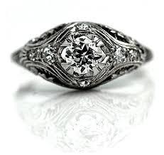 antique engagement ring filigree diamond 1900 u0027s