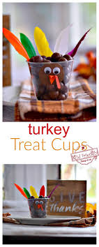 turkey treat cups for a thanksgiving food craft