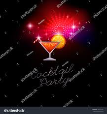 invitation cocktail party shiny icon cocktail stock vector