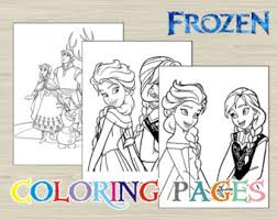 frozen coloring etsy