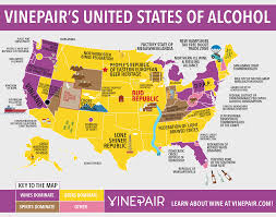 Us Map Of Time Zones by Map The United States Of Alcohol Alcohol Wine And Beer