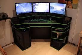 corner gamingter desk workspace staples glass imac modern