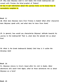 Blind Prophet In The Odyssey The Odyssey Study Guide Questions And Answers 28 Images