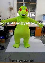 Halloween Mascot Costumes Rugrats Reptar Dinosaur Cosplay Costumes Rugrats Reptar Dinosaur