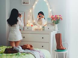 bedroom mirrors lights around them bedroom