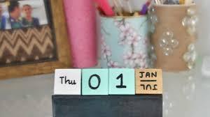 Diy Desk Calendar by Make A Fun Cubes Calendar Diy Home Guidecentral Youtube