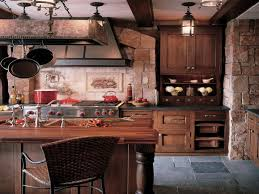 Rattan Kitchen Furniture by Imposing Rustic Kitchen Cabinets As Vintage Kitchen Interior