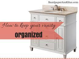 bathroom vanity organization stephanie marchetti sandpaper