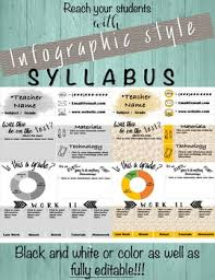 included are 2 infographic syllabus templates one in color and