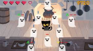 google has a special doodle game you can play for halloween today